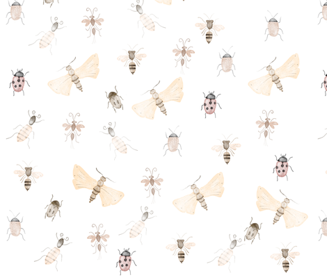 Bugs and Insects pattern fabric by chotnelle on Spoonflower - custom fabric