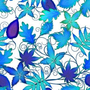 Wild Aqua-Purple Leaves