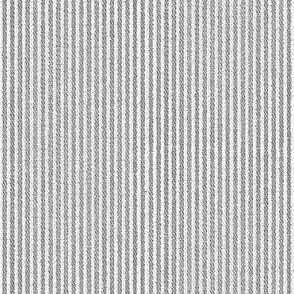 French Linen Petite Stripe - stone grey-ed