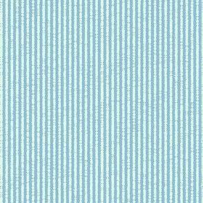 French Linen Petite Stripe - aqua-ed