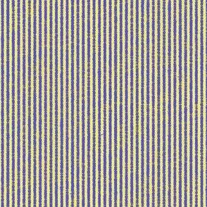 French Linen Petite Stripe - royal blue, yellow-ed
