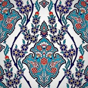 Ottoman Iznik Wall Ceramic - Carnations