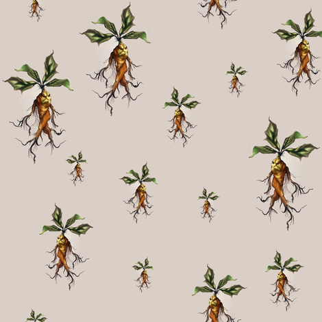 mandragora - potter's world fabric by stofftoy on Spoonflower - custom fabric