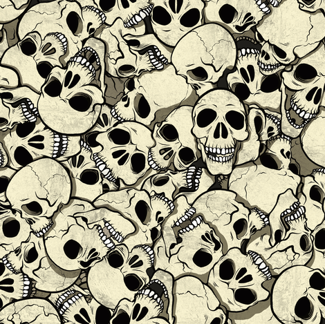 Skull Pile 2 fabric by jadegordon on Spoonflower - custom fabric