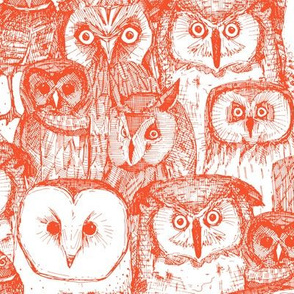 just owls flame orange