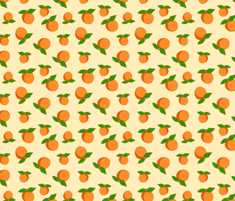 Apricots Sweet Cute Pattern fabric by francescamieledesign on Spoonflower - custom fabric