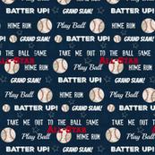 AllStar vintage navy  worn baseball stars and text  XL1205