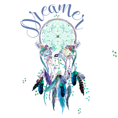 """8"""" Dreamer / Teal & Lilac Dream Catcher Mix & Match fabric by shopcabin on Spoonflower - custom fabric"""