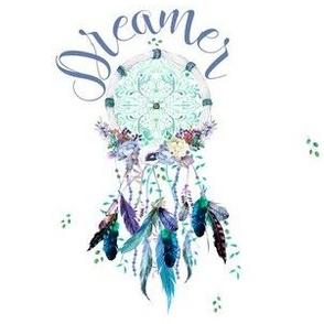"6"" Dreamer / Teal & Lilac Dream Catcher"