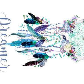 "21""x18"" FQ / Teal & Lilac Dream Catcher"