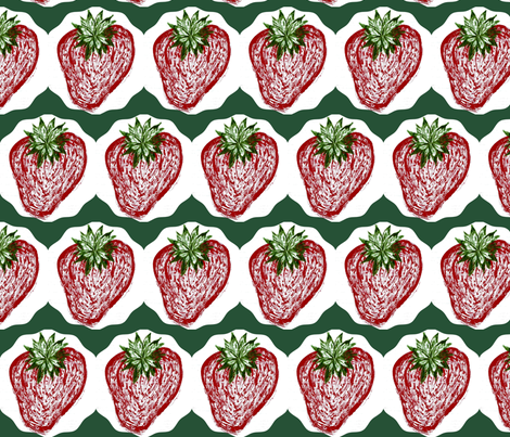 Sweet Strawberry Summer fabric by bent_line_designs on Spoonflower - custom fabric