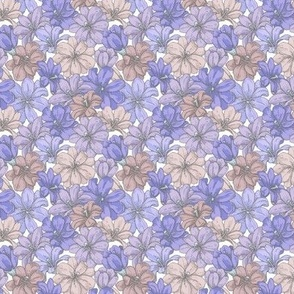 Inky Flowers in 'Pewter and Purple'