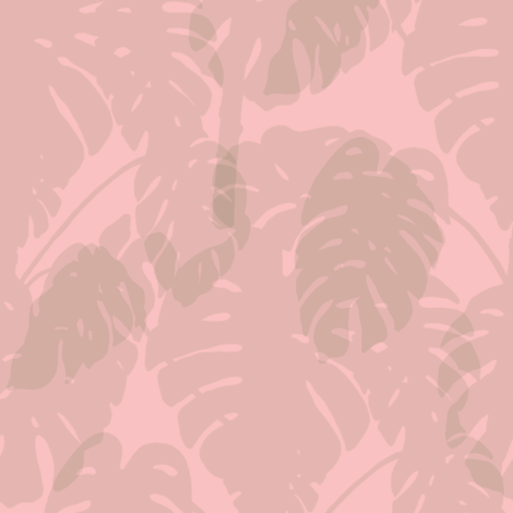 Monstera_soft pink fabric by align_design on Spoonflower - custom fabric