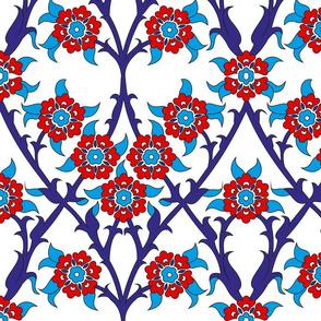 Ottoman Saten Wall tile- Iznik