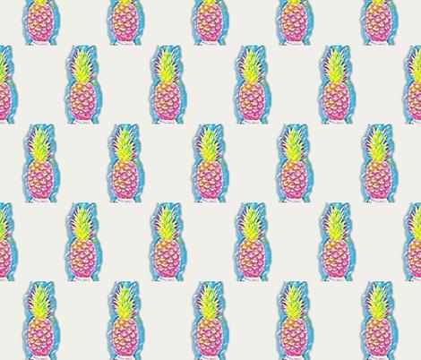 Neon Tropicana fabric by papierprettydesigns on Spoonflower - custom fabric