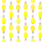 Watercolor Pineapples Yellow and White