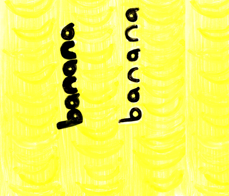 banana banana fabric by strongbeakstudio on Spoonflower - custom fabric