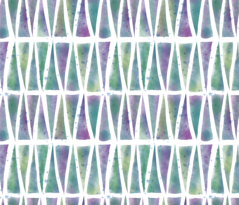 Watercolor Triangles fabric by mgdoodlestudio on Spoonflower - custom fabric