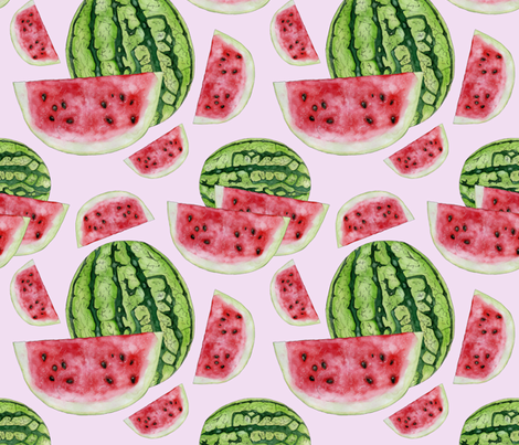Watermelon fabric by pam_ash_designs on Spoonflower - custom fabric