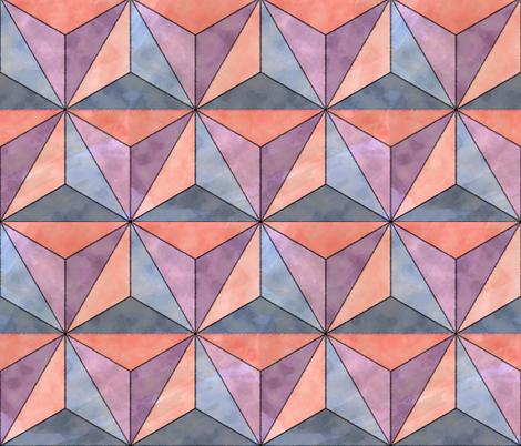 Watercolor Geodesic fabric by dahliabunny on Spoonflower - custom fabric