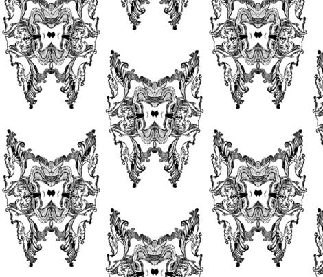 butterfly's creep  fabric by artbyvilla on Spoonflower - custom fabric