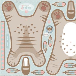 Cozy Floor Cushion Bobcat