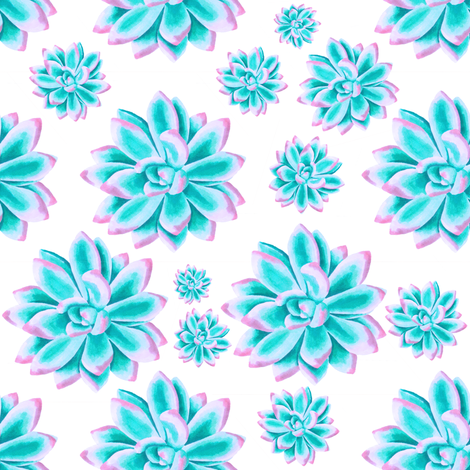 "8"" Cotton Candy Cactus / SUNSET fabric by shopcabin on Spoonflower - custom fabric"