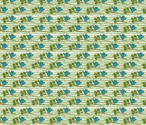 Tiny Birds on Twigs  fabric by vanillabeandesigns on Spoonflower - custom fabric