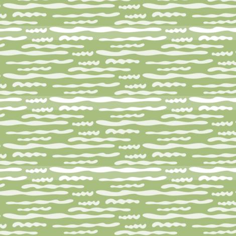 Green Wavy Texture; no bird fabric by vanillabeandesigns on Spoonflower - custom fabric