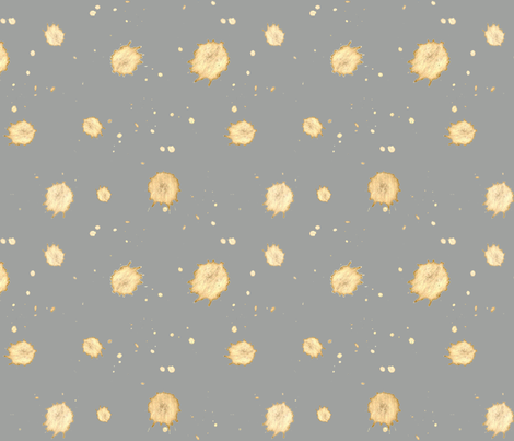 Grey with Gold Splatter fabric by felicia_murray on Spoonflower - custom fabric