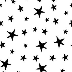 Drawn Stars - Black on White