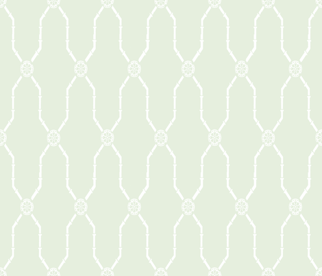 Dynasty Trellis on basil fabric by lilyoake on Spoonflower - custom fabric