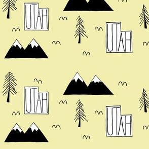 Utah Mountains | Light Goldenrod