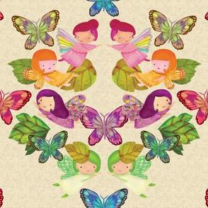 Fairy Damask {Ivory Linen}