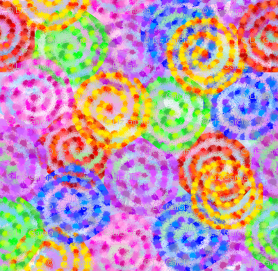 Abstract Swirl Watercolor