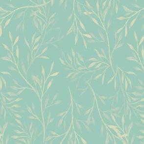Garden Leaves {Blue}
