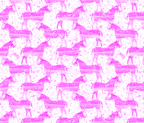 Unicorn Dreams (Pink) fabric by robyriker on Spoonflower - custom fabric