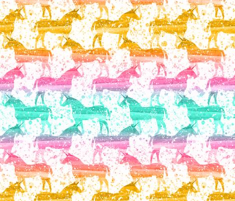 Unicorn Dreams (Morning) fabric by robyriker on Spoonflower - custom fabric