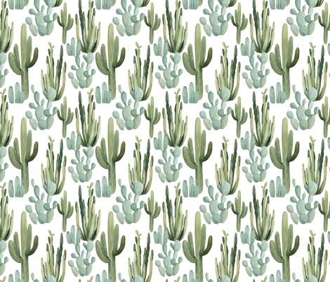 Desert Cactus fabric by bluebirdcoop on Spoonflower - custom fabric