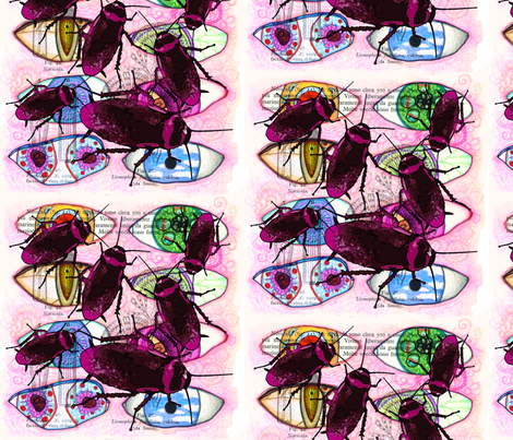 Bug Eyes fabric by studiosarcelle on Spoonflower - custom fabric