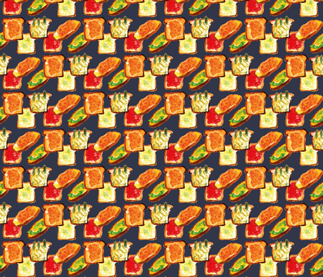 Toasties fabric by jmclemenson on Spoonflower - custom fabric