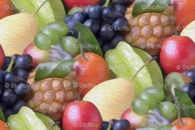 painted fruit basket