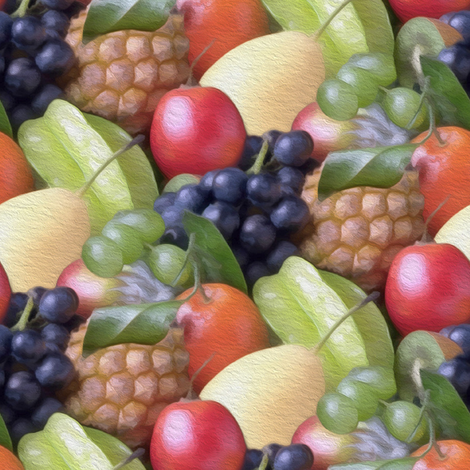 painted fruit basket fabric by stofftoy on Spoonflower - custom fabric