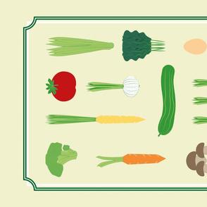 healthy teatowel vegetable