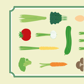 healthy teatowel vegetable