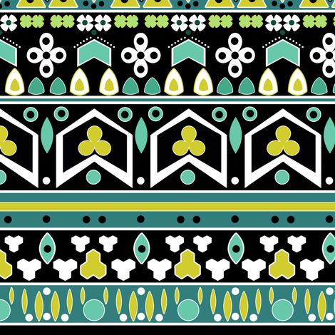 Tribal ethnic pattern of Indians . fabric by fuzzyfox on Spoonflower - custom fabric