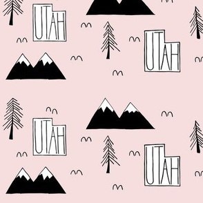 Utah Mountains | Light Pink