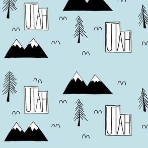Utah Mountains | Sky Blue