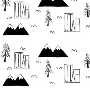 Utah Mountains | White