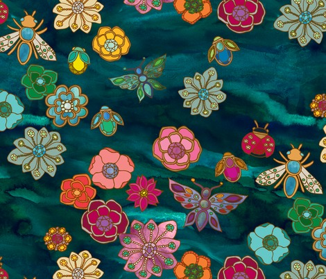 Rrrrrrthe_jewelled_garden_turquoise_watercolour_jewels_05_contest144869preview